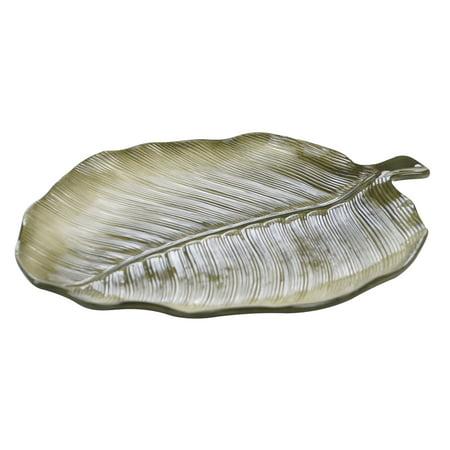 Green Medium Oval Platter (Palm Leaves 3-D Palm Leaf Platter)