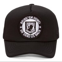 972ddbab444 Product Image Military Patch Adjustable Trucker Hats - POW MIA