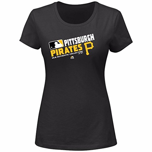 MLB Women's Authentic Collection Team Choice T-Shirt (Small, Pittsburgh Pirates)