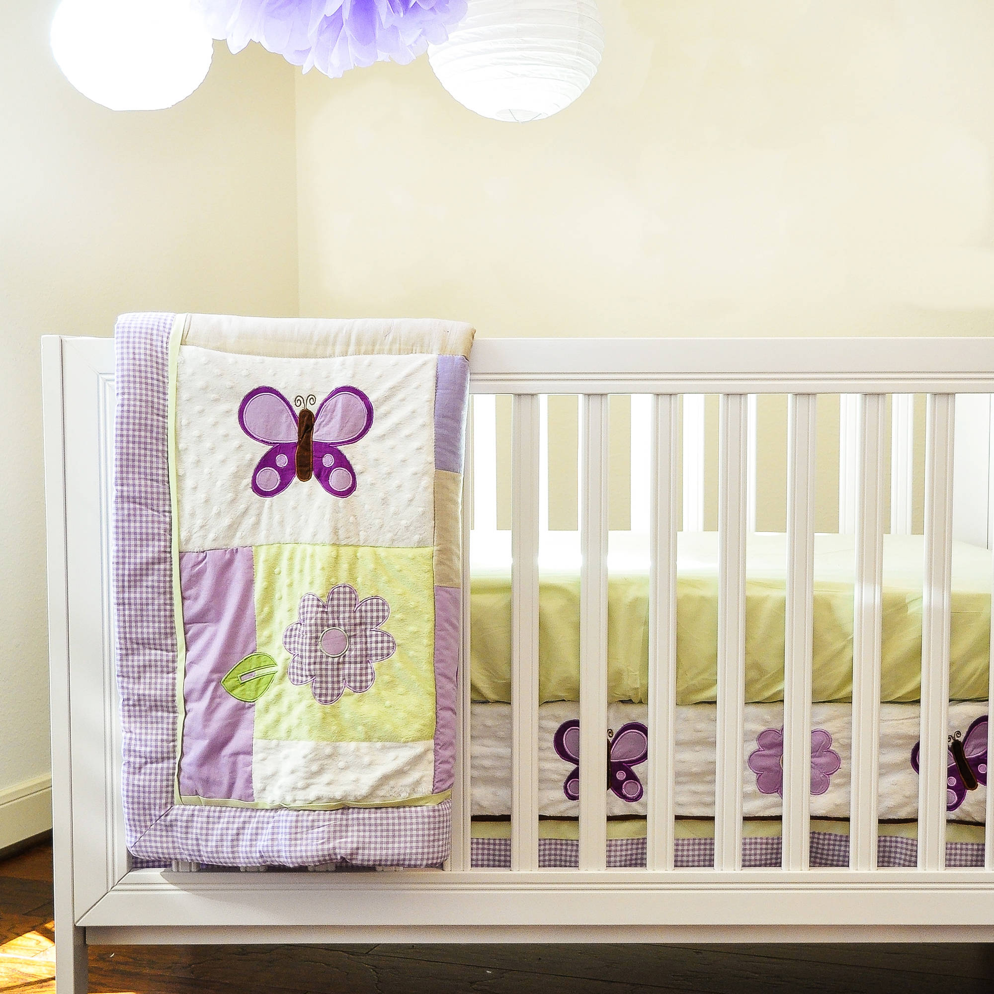 Lavender Butterfly Nursery in a Bag Bedding Set
