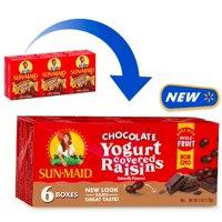 Sun-Maid Yogurt Raisins, Dark Chocolate, 6 ct, 1 oz