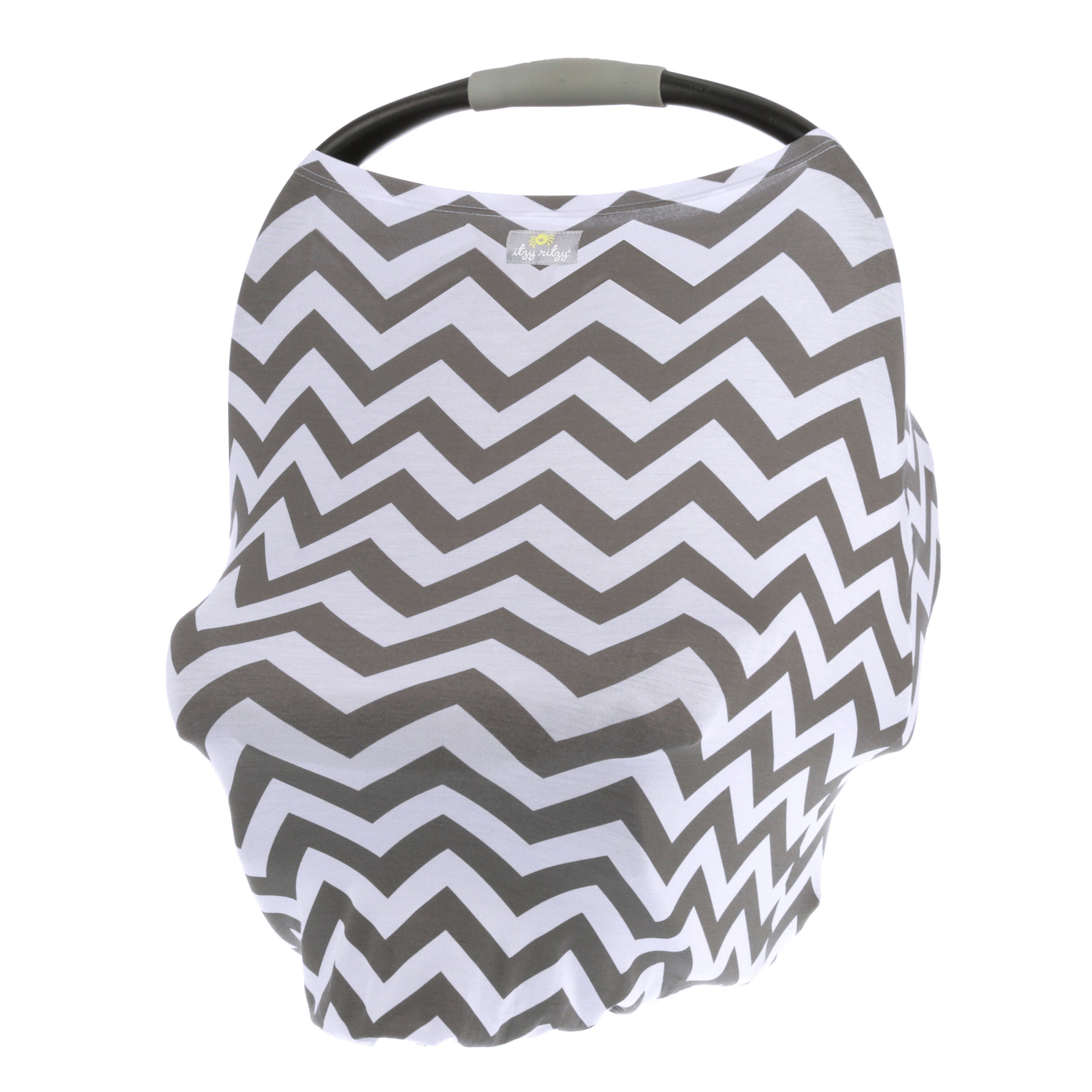 Itzy Ritzy Mom Boss 4 In 1 Multi Use Nursing Cover Car Seat Cover Shopping Cart Cover And Infinity Scarf Gray Chevron Walmart Com Walmart Com