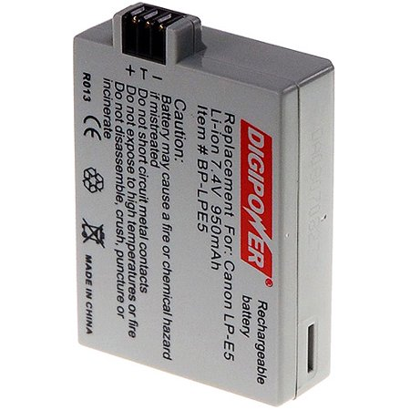 Digipower Rechargeable Battery - Digipower BP LPE5 Replacement Li ion Battery for Canon LP E5
