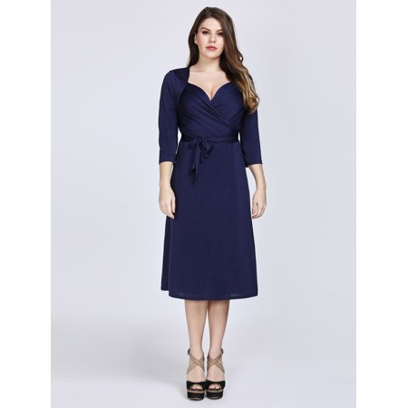 Ever-pretty - Ever-Pretty Women\'s Plus Size Navy Blue Evening Party ...
