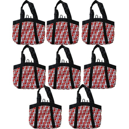 Large Stylish Fashion Tote, Reusable Eco-Friendly Grocery Bags (8 (Most Stylish Fashion Accessory)