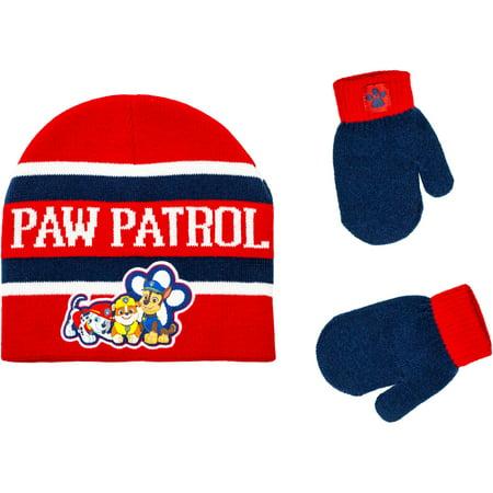 PAW Patrol - Infant Toddler Boy Hat and Mitten Set - Walmart.com a8d6093c4