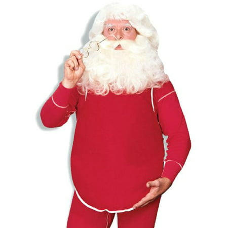 Santa Belly Economical Adult Halloween Costume (Halloween Costume Baby Coming Out Of Belly)