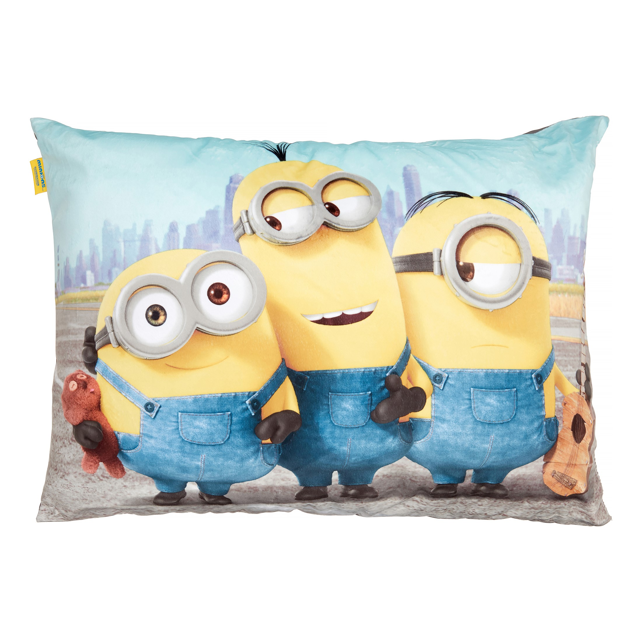 DESPICABLE ME MINIONS BLUE CUSHION PILLOW KID CHILDS BOYS GIRLS BEDROOM GIFT