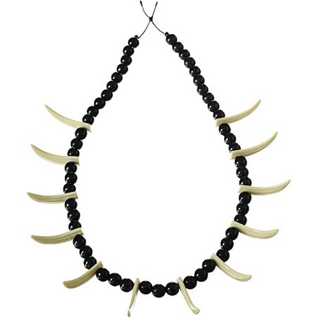Stone Age Sabre Tooth Bone Caveman Necklace Jewelry Cavewoman Costume Accessory](Stone Age Cavemen)