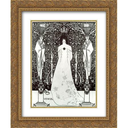 Aubrey Beardsley 2x Matted 20x24 Gold Ornate Framed Art Print 'Venus between Terminal Gods'