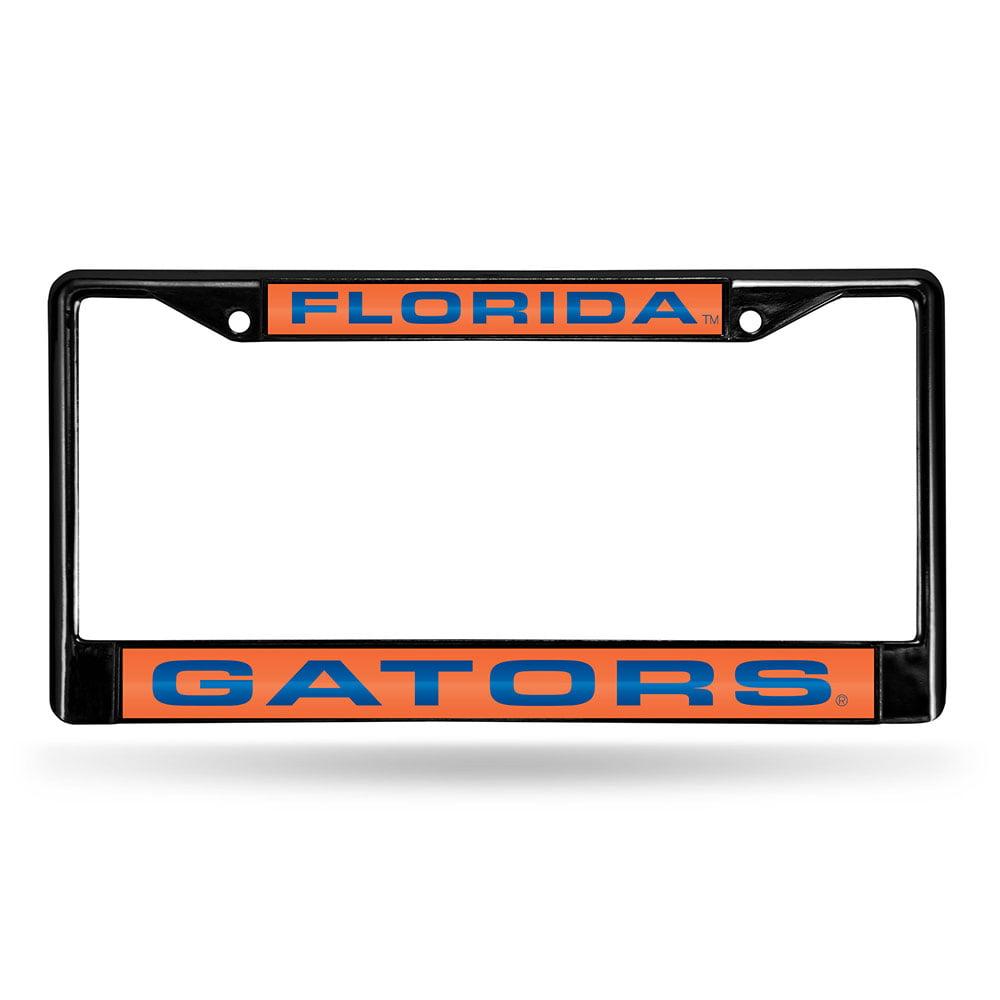 Florida Gators NCAA Black Chrome Laser Cut License Plate Frame