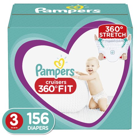 Pampers Cruisers 360˚ Fit Diapers Size 3 156 Count ()