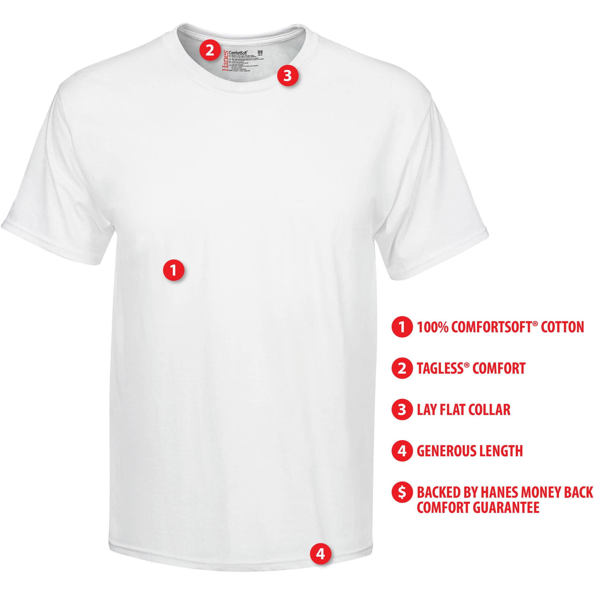 Design your own t-shirt hanes - Hanes Big Men S Freshiq Comfortsoft White Crew Neck T Shirt 5 Pack Walmart Com