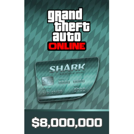 Grand Theft Auto Online - Megalodon Shark Cash Card, Rockstar Games, PC, [Digital Download], 818858023191 (Halloween Bowling Computer Game)