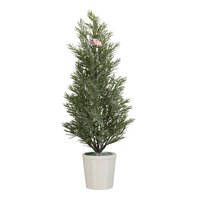 Holiday Time Rosemary Tree with Porcelain Base Christmas Decoration, 24""