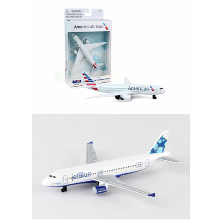 "American, Jetblue Airlines Diecast Airplane Package - Two 5.5"" Diecast Model Planes"
