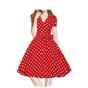 Women Vintage Dress 1950s 1960S Swing Retro Casual Office Bridesmaid  Knee-length Fashion Chinese Style Dress for Xmas Evening Party Ball Spring Summer Autumn Winter US Size 2-6-8-10-12-14
