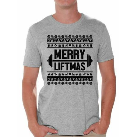 awkward styles awkward styles merry liftmas christmas shirt merry christmas tshirts for men lifting shirt gym training christmas holiday shirt workout top - Funny Christmas T Shirts
