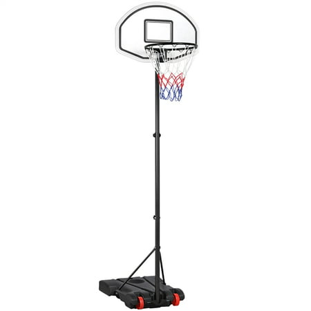 SmileMart Portable Height Adjustable Basketball Hoop Now $56.23 (Was $100)