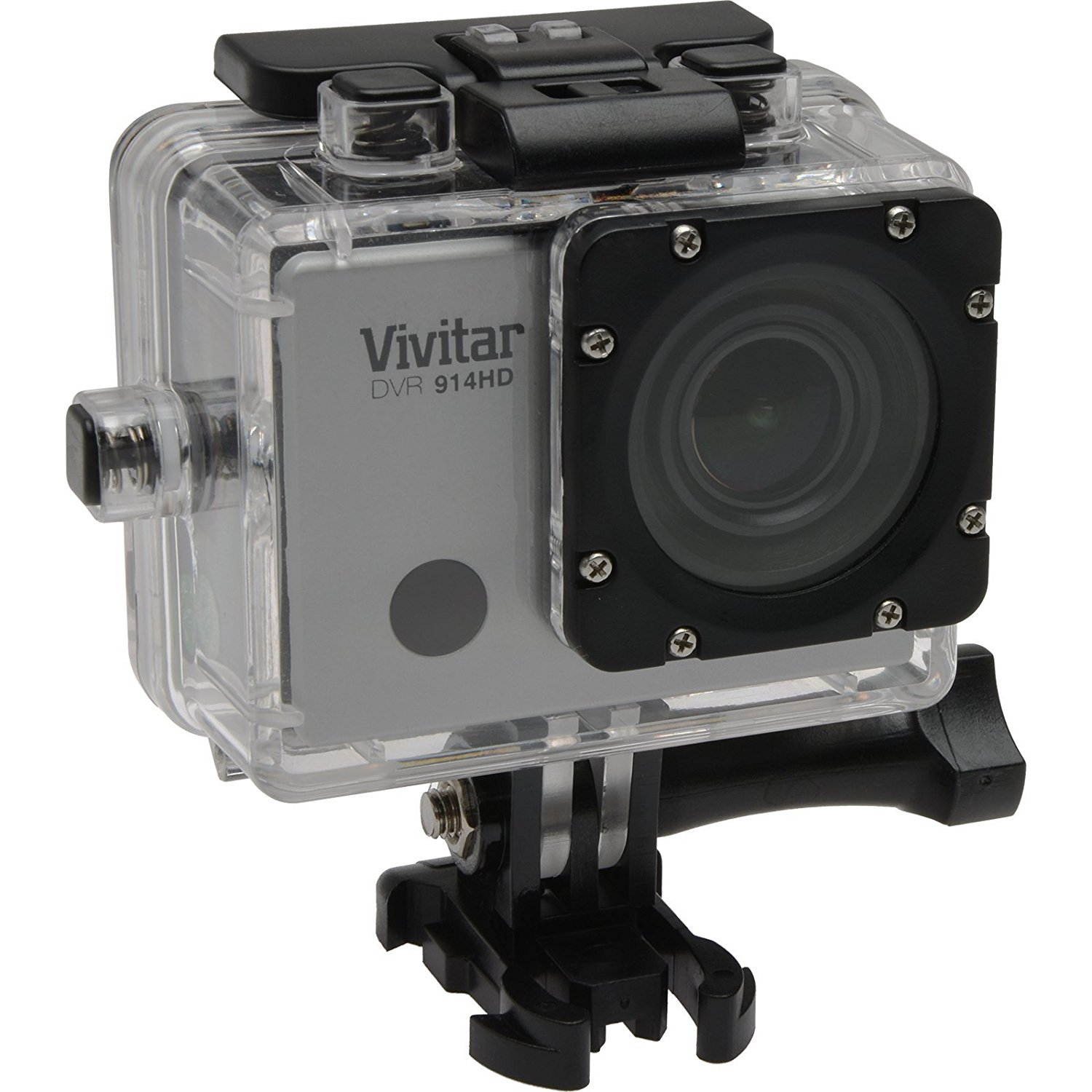 "Vivitar DVR914HD-SIL-PR Silver Action Camcorder, 2"" LCD and Waterproof Capabilities"
