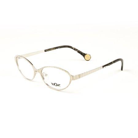 BOZ Women\'s Vaki Semi-Oval Eyeglass Frames 54mm Silver - Walmart.com
