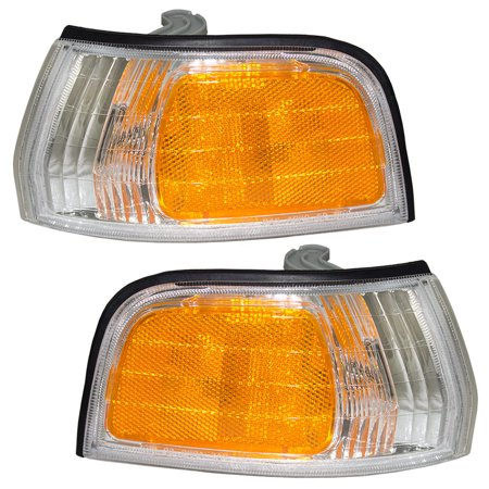Driver and Passenger Park Signal Side Marker Lights Lamps Replacement for Honda 34350-SM4-A03 34300-SM4-A03