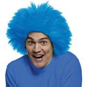 Blue Sports Fun Wig Adult Halloween Accessory
