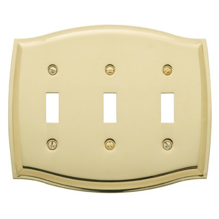 Baldwin Colonial Design Triple Toggle Switch Plate