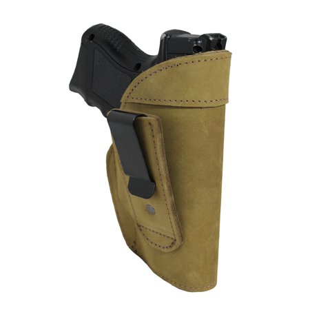 Barsony Right Olive Drab Leather Tuckable IWB Holster Size 18 Bersa CZ Kahr Walther Sig Ruger Compact 9 40 (Best Iwb Holster For Cz 75 Compact)