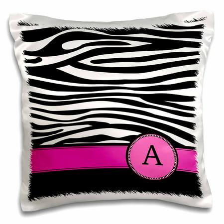 3drose Letter A Monogrammed On Black And White Zebra