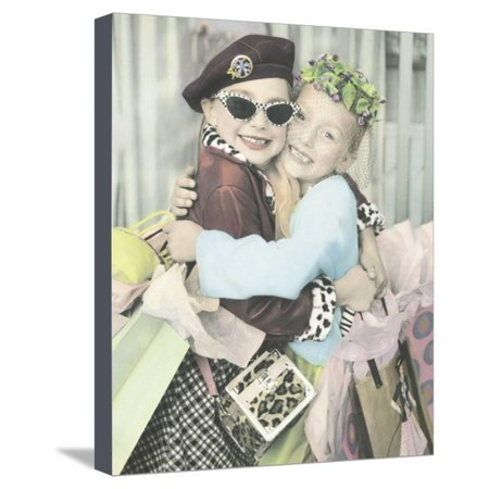 Best Friends Stretched Canvas Print Wall Art By Gail