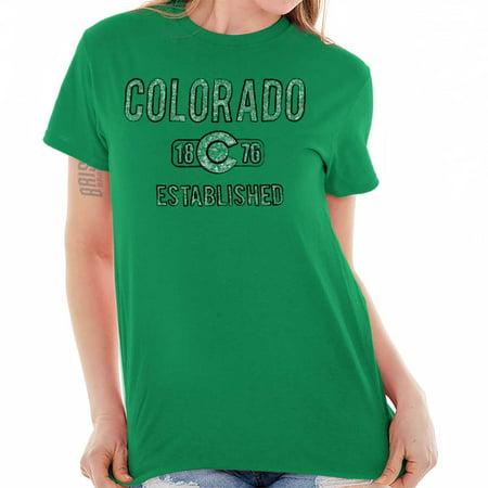 Colorado Gift (Colorado State Pride T Shirt State Flag USA State Logo Gift)