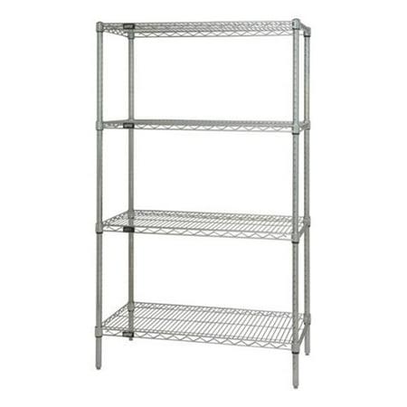 4-Shelf, Stainless Steel Wire Shelving Unit - 14 x 42 x 74 in. - image 1 de 1