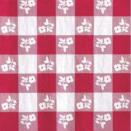 Party Creations Red Gingham, Beverage Napkins, 18 Ct](Red And White Gingham Napkins)