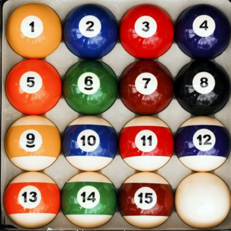Traditional Style Billiard Table Pool Ball Set Regulation 2 1/4