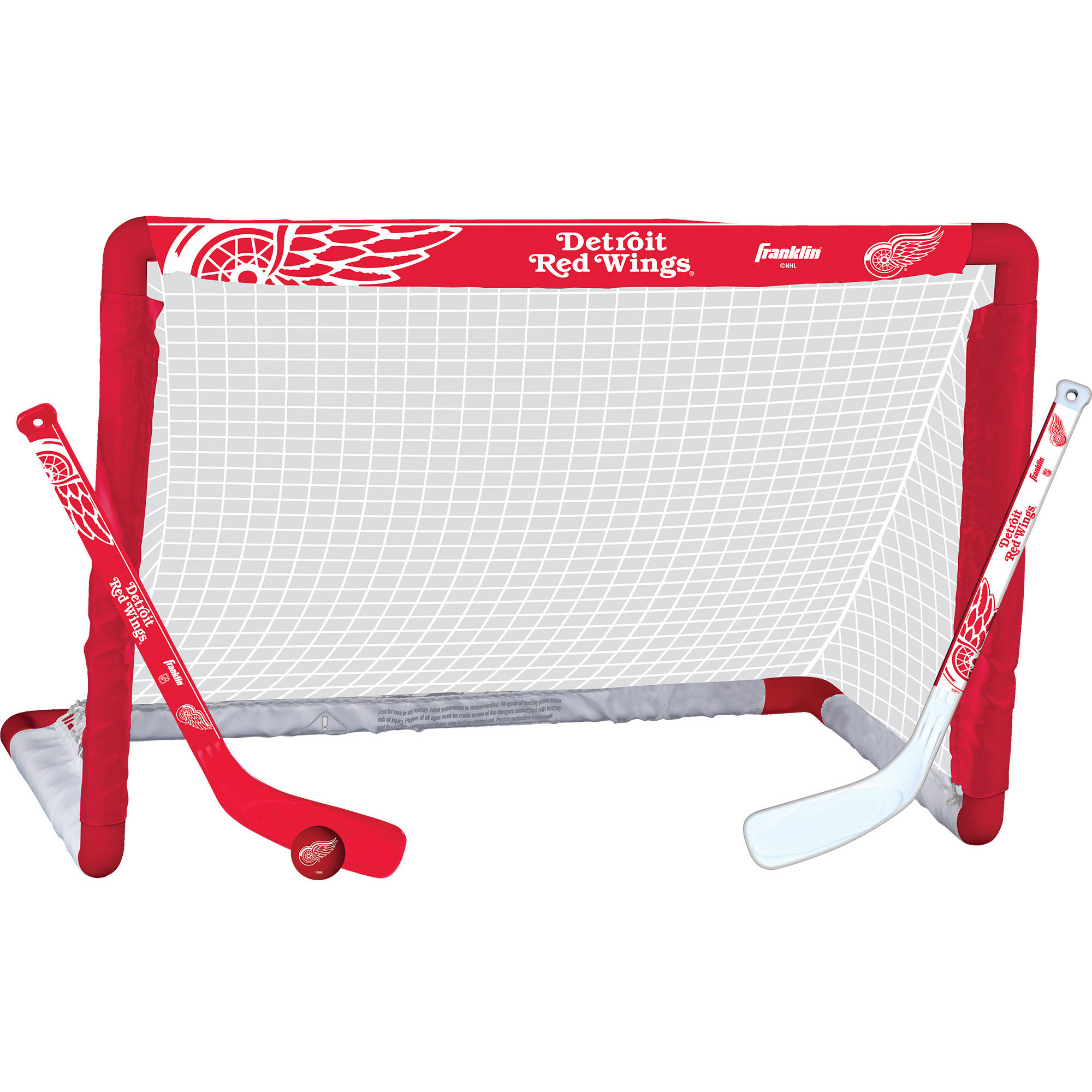 Franklin Sports NHL Detroit Red Wings Mini Hockey Set