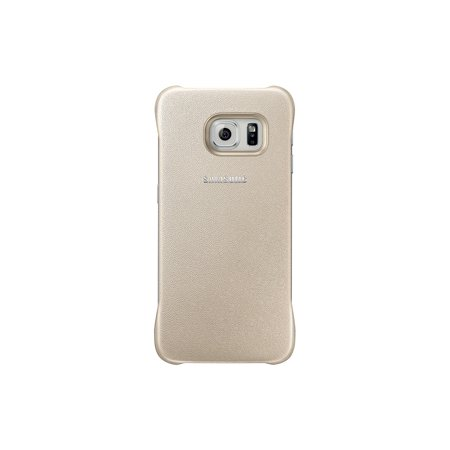Samsung Galaxy S6 Edge Protective Cover, Gold - Smartphone - Gold - Rubber, Polyurethane (ef-yg925bfegus)