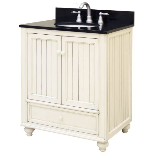 "sunny wood bb3021d bristol beach 30"" wood vanity cabinet only"