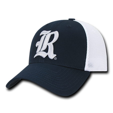 NCAA Rice Owls University Low Crown Structured  Mesh Flex Baseball Caps (Colorblock Structured Flex Hat)