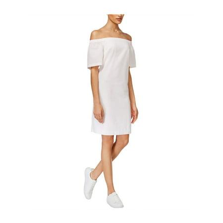 maison Jules Womens Seersucker Shift Dress
