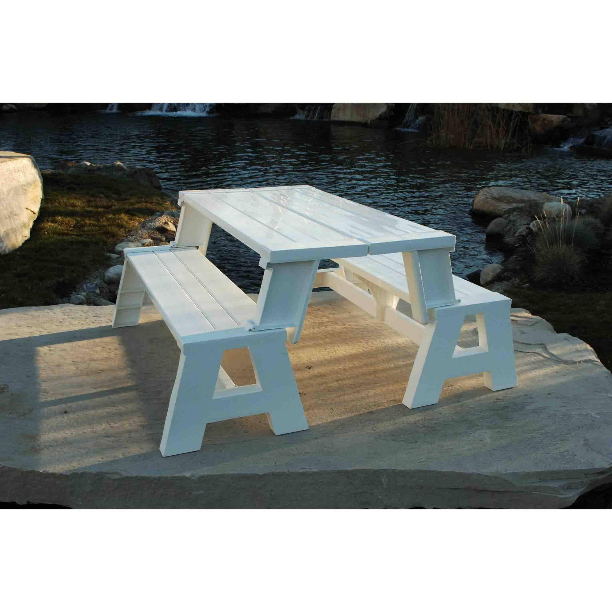 bench metal furniture white outdoor ikea resin park