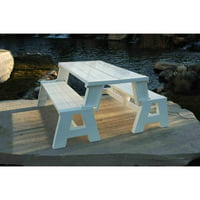 Convert-A-Bench Plastic Folding Picnic Table Bench, Multiple Colors