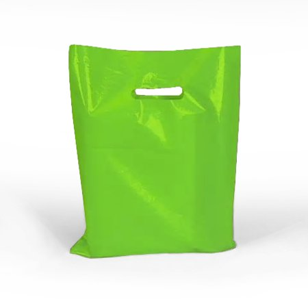 Lime Green Glossy Bags with Diecut Handles 12