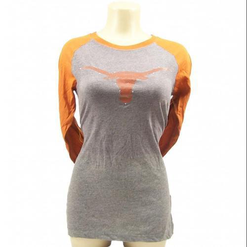 Texas Longhorns Official NCAA  Raglan 3/4 Bevo Shirt by Glitter Gear