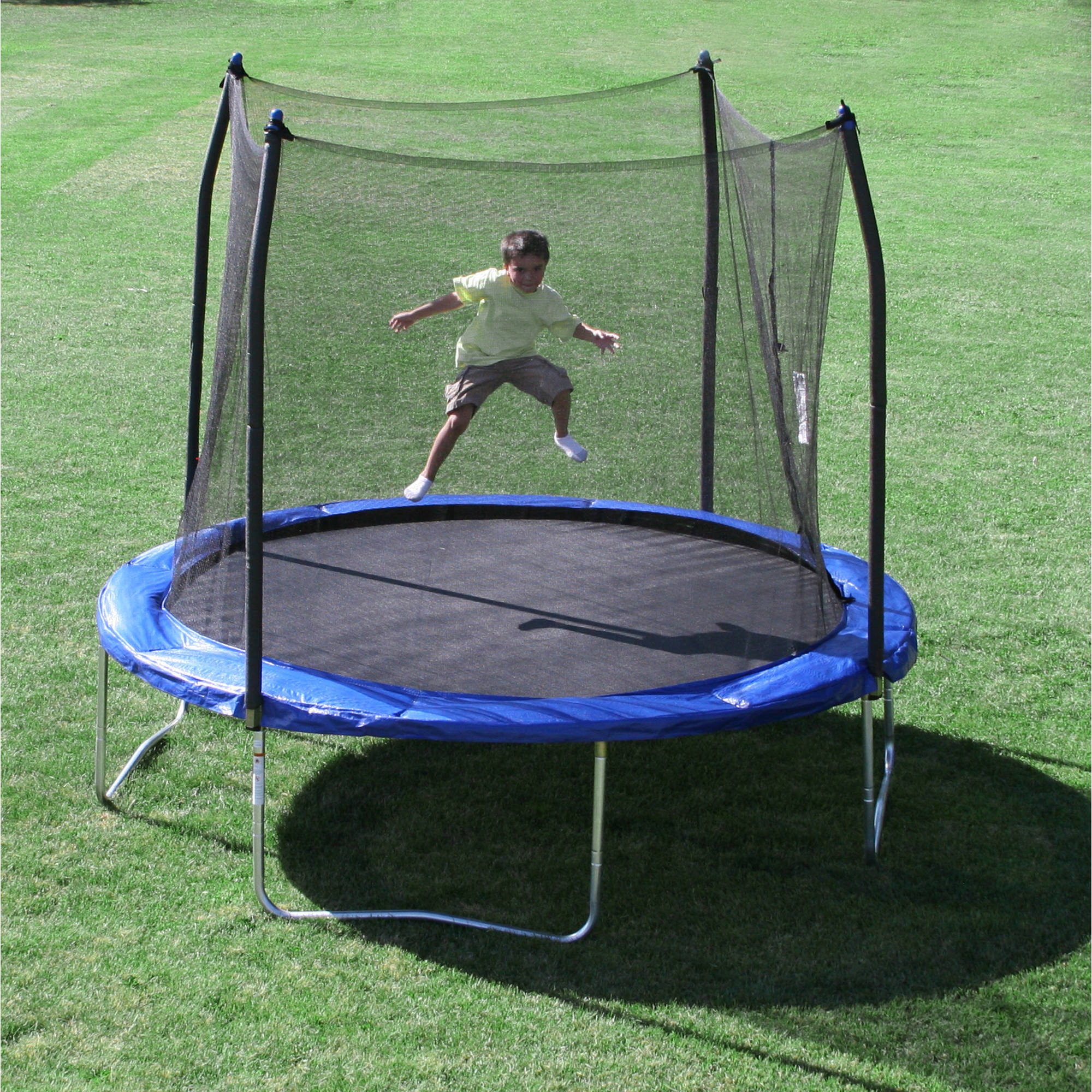 Skywalker 10' Round Trampoline and Safety Enclosure Combo with Windstakes
