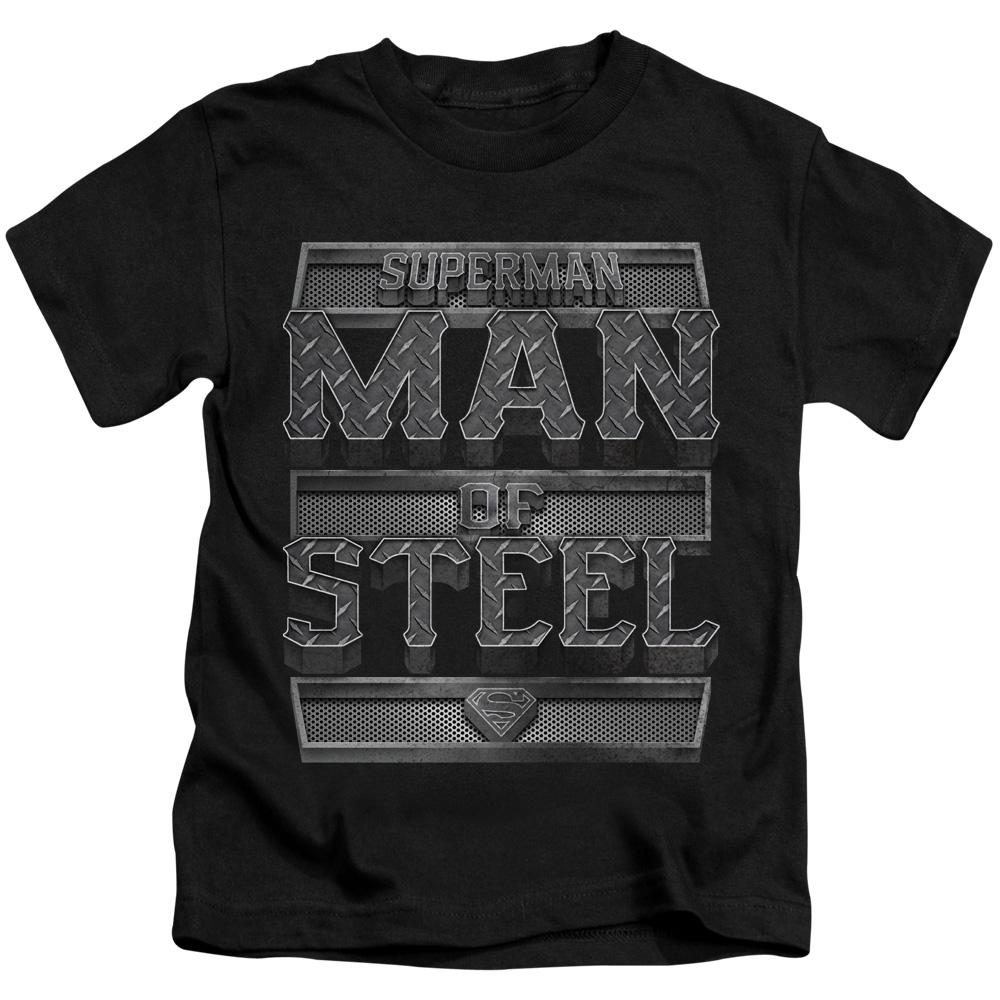 Superman DC Comics Steel Text Little Boys T-Shirt Tee