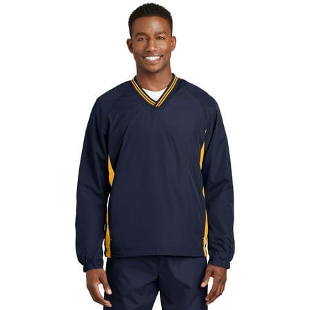 Tipped VNeck Raglan Wind Shirt Big And Tall V-neck Vest