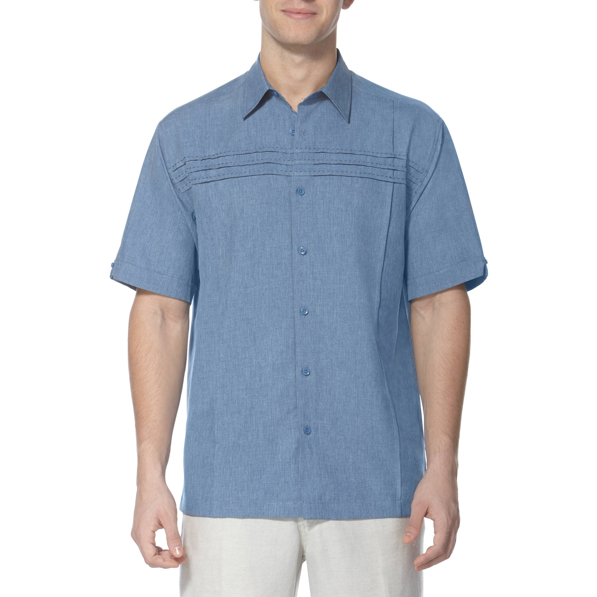 Caf Luna Men's Horizontal Chest Stripe Shirt