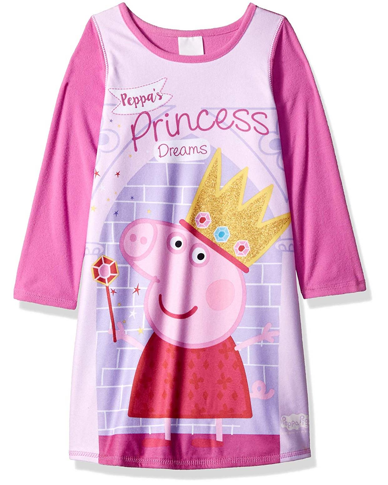 Peppa Pig Toddler Poly Nightgown Pajamas, Pink, Size: 2T