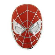 1928 Men's Spiderman Superhero Matte Red Mask Head Belt Buckle 13597